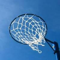 Blue Netball Post Hoop
