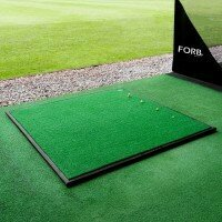 FORB Driving Range Golf Practice Mat [Mat + Rubber Base]