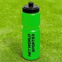 10 Green Ice Hockey Water Bottles (750ml) & Foldable Carrier