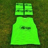 Green FORZA Pro Rugby Training Bibs/Vests [15 Pack - Junior]