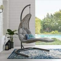 Harrier Hanging Chair Sun Loungers [White & Grey]