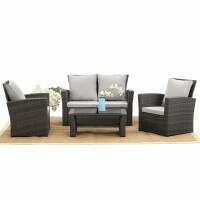 Harrier Rattan Garden Sofa & Table Set [Grey]