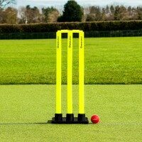 FORTRESS Stumps de Cricket avec Socle en Caoutchouc [Senior]