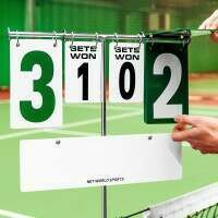 Теннисное табло с креплением к стойкам