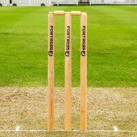 FORTRESS Wooden Cricket Stumps [ICC Regulation] [County Standard - Senior]
