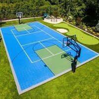 Pickleball Court Modular Floor Tiles System
