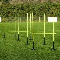 1.5m (5ft) Slalom Pole and Hurdle Set With Rubber Bases