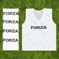 [10 Pack] White FORZA Pro Soccer Training Pinnies [Junior]