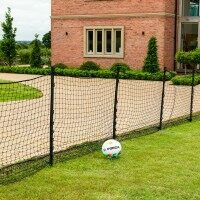 Garden Ball Stop Net & Stakes [Custom Length] - 3ft High