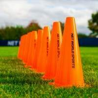 30cm FORZA Aussie Rules Football Training Marker Cones [Jumbo 100 Pack]