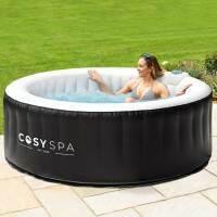CosySpa aufblasbarer Whirlpool [4 Personen] + Komfort-Set + ernegiespariender Abdecksysteme