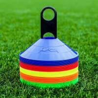 Multi-Coloured FORZA AFL Aussie Rules Football Training Marker Cones [Pack Of 50]