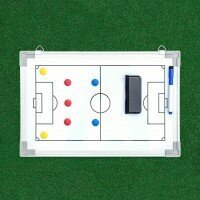 45cm x 30cm Soccer Tactics/Coaching Board - Single Sided & Carry Bag