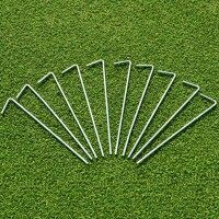 "Steel Net Pegs 9"" [Ultra Heavy-Duty]  (Pack of 10)"