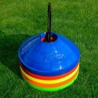 50 FORZA Rugby Training Marker Cones [Multi Coloured]