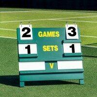 Tennis Anzeigetafel aus Holz [freistehend]