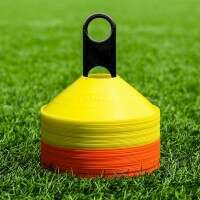 FORZA Football Training Marker Cones [Orange & Yellow] - Pack of 50