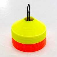 FORZA Ice Hockey Training Marker Cones [Orange & Yellow - Pack Of 50]