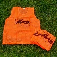 Orange FORZA Pro Rugby Training Bibs/Vests [5 Pack - Adult]