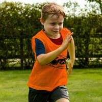 [15 Pack] Orange FORZA Pro Training Bibs/Vests [Kids]