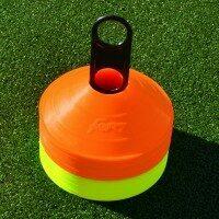 FORZA Plots d'Entraînement de Rugby [Pack de 50 – Orange et Jaune]
