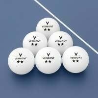 Vermont Table Tennis Balls - 2 Star Pack of 6