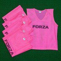 Pink FORZA Pro Training Bibs [5 Pack - Adult L/XL]