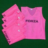 [Pack de 5] FORZA Pro Chasubles d'Entraînement Roses de Football [Adulte S/M]