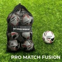 FORZA Pro Match Fusion Soccer Balls & Carry Bag [12 Pack] - Size 5