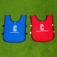 Netball Bibs - Kids (BLUE & RED) [Pack of 14]