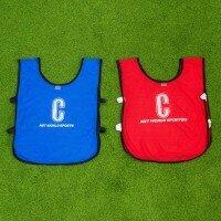 Chasubles de Netball [Pack de 14] - Senior, Bleu & Rouge