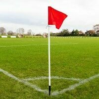 Set of 4 Soccer 25mm Corner Flags (Spring Loaded)