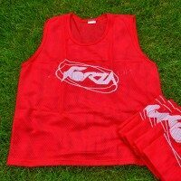 Red FORZA Pro Rugby Training Pinnies [15 Pack - Junior]
