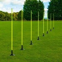 1.5m ASTRO 25mm Slalom Poles [Includes Bases] - Pack of 16