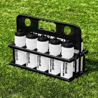 10 Semi-Translucent AFL Water Bottles [25Fl Oz] & Foldable Bottle Carrier
