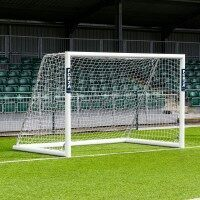 3m x 2m FORZA Alu110 Freestanding Futsal Football Goal Pair + Weights