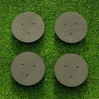 Tennis Post Socket Caps [Pack of 2] - Round