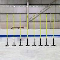 1.5m Spring Loaded Ice Hockey Training Agility Poles [25mm] - Pack of 8