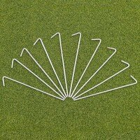 Steel Net Pegs - 10 Pack with Peg Bag