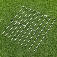 Steel Net Pegs - 20 Pack with Peg Bag