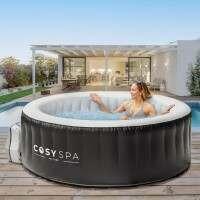 CosySpa Jacuzzi Spa Gonflable [4 Places] + Accessoires 'Confort' + Couverture Économique