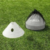 White FORZA Superdome Jumbo Soccer Training Marker Cones [Pack of 20]
