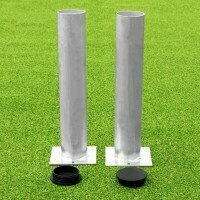 80mm Ground Sockets For Soccer Goals [Set of 2 With Lids]