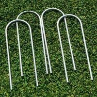 "Steel 10"" U-Peg Goal Anchors [JUMBO 50 Pack]"