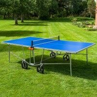 Vermont TS100 Outdoor Ping Pong Table + Pro Set