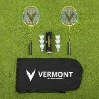 Vermont Badmintonschläger und Federbälle Set [Jugend]