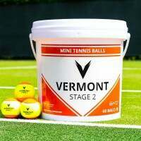 Vermont Mini Orange Tennisbälle [Stufe 2] (60 Bälle)