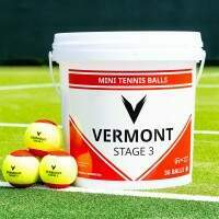 Vermont Mini Red Tennis Balls [Stage 3] - 36 Ball Bucket