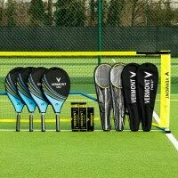 Vermont ProCourt Lot de Filet et Raquettes de Mini Tennis & Badminton [Senior / 6m]