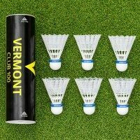 Vermont Club 100 Badminton Shuttlecocks [White]